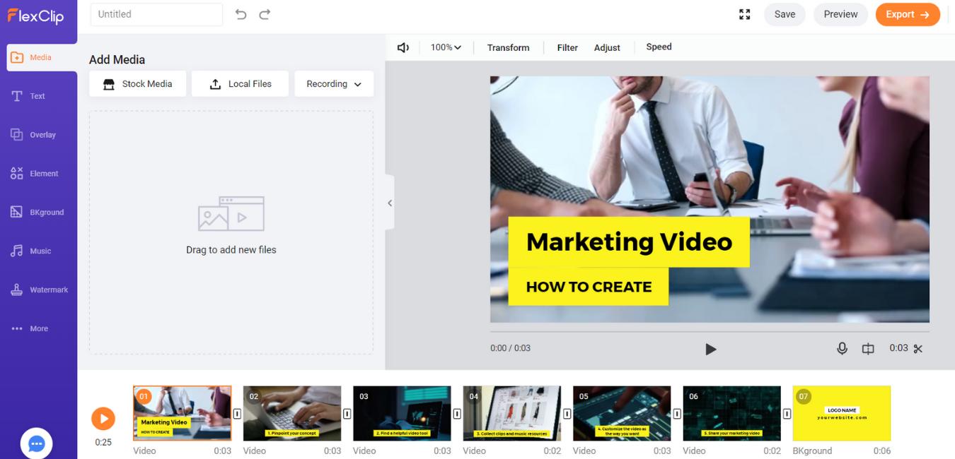 Business Tools -  FlexClip Montage Vidéo
