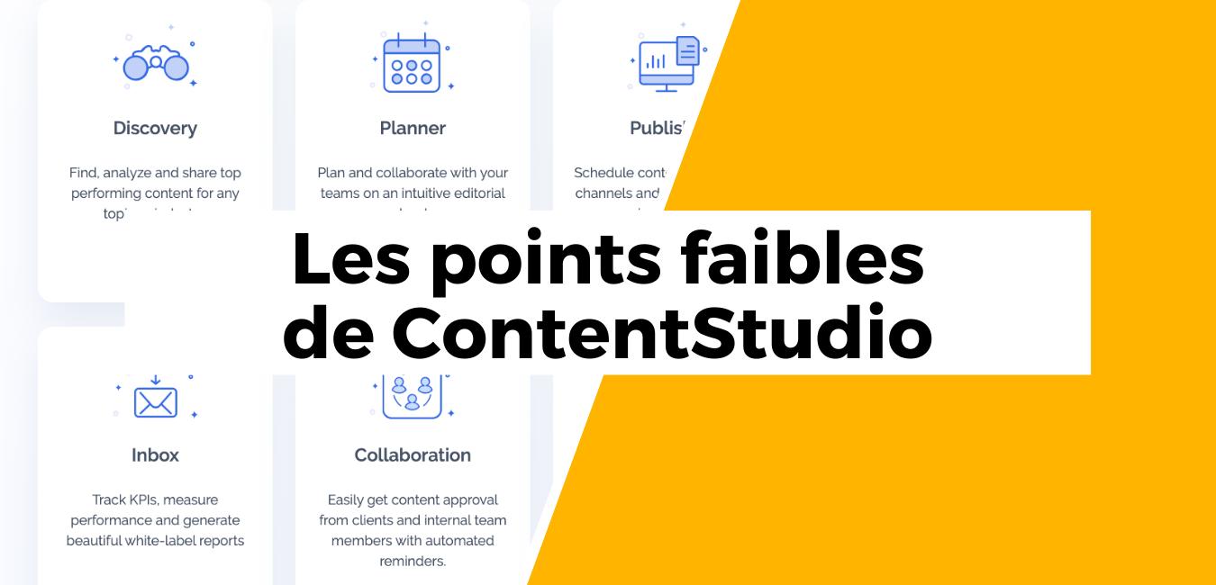 ContentStudio - Business Tools review - inconvénients limites