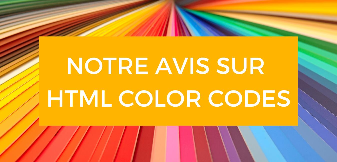 HTML Color Codes - Business Tools Review - Notre avis